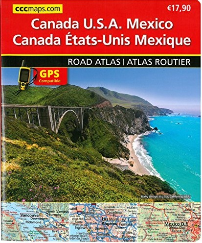 North America road atlas
