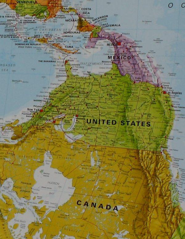 Craenen Maps Int World 30m Pol Upside Down