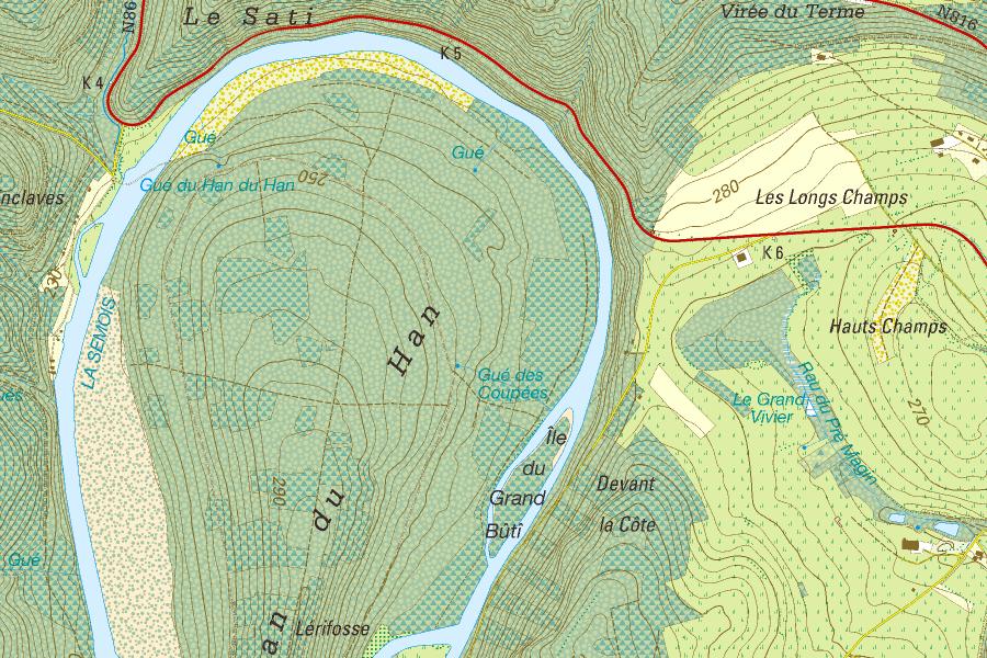 Belgium Topographic Map.Craenen Ngib