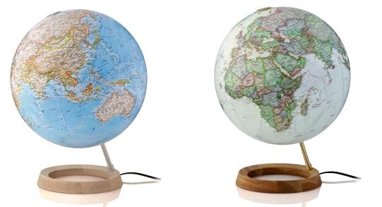 Wereldbol Met Licht : Craenen: globes national geographic